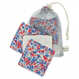 Kit lingettes Liberty et Sac filet - Wiltshire
