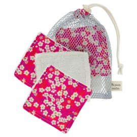 Kit lingettes Liberty et Sac filet - Mitsi