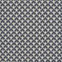 Tissu coton Enduit  imprimé écailles - Noir - Oeko tex