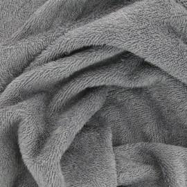 Tissu Eponge de bambou Gris - oeko tex