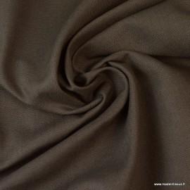 Tissu demi natté coton Taupe