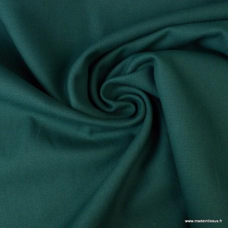 Tissu demi natté coton Pétrole