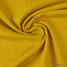 Tissu demi natté coton moutarde