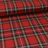 Tissu Tartan écossais à carreaux - Rouge, vert et jaune