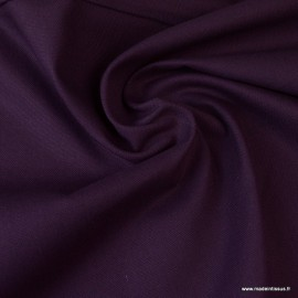 Tissu demi natté coton Prune
