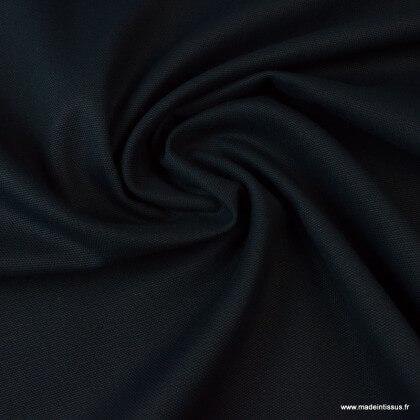 Tissu demi natté coton marine 145cm