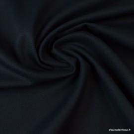 Tissu demi natté coton marine