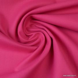 Tissu demi natté coton Fuchsia
