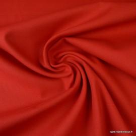 Tissu demi natté coton Rouge
