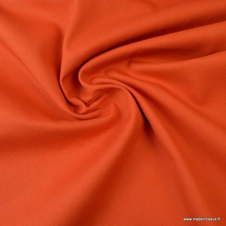 Tissu demi natté coton Terracotta
