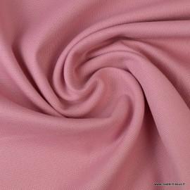Tissu demi natté coton Vieux rose