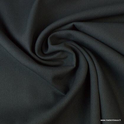 Tissu demi natté coton Gris anthracite