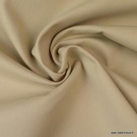Tissu demi natté coton Beige