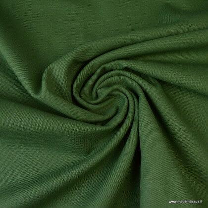 Tissu demi natté coton vert bouteille