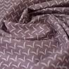 Tissu coton motifs cils Lie de vin - Oeko tex