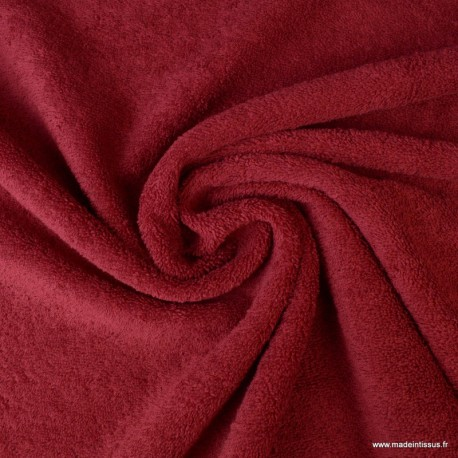 Tissu Eponge 100% coton Rouge Hermes