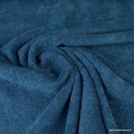 Tissu Eponge 100% coton Bleu Pétrole