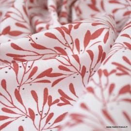 Tissu coton imprimé fleurs Slichen Grenat - Oeko tex