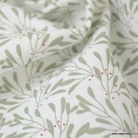 Tissu coton imprimé fleurs Slichen Tilleul - Oeko tex