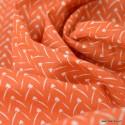 Tissu coton Lixneg Coloris Paprika - Oeko tex