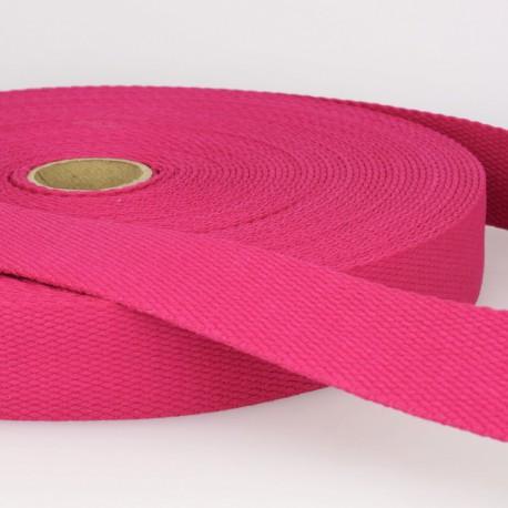 Sangle 30mm en coton pour sac coloris Fuchsia