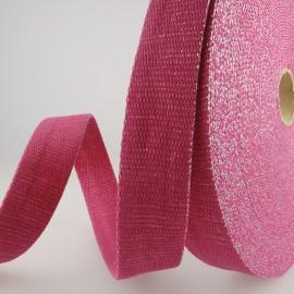 Sangle Lurex Fuchsia 30mm pour sac