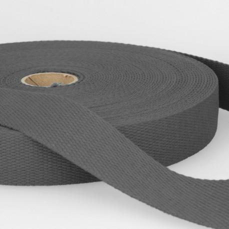 Sangle 30mm en coton pour sac coloris Gris Anthracite