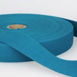 Sangle 30mm en coton pour sac coloris Pétrole