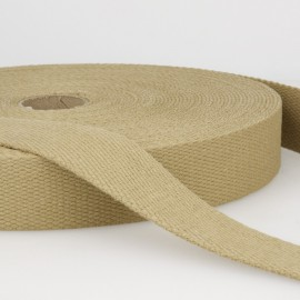Sangle 30mm en coton pour sac coloris Sable