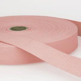 Sangle 30mm en coton pour sac coloris Rose