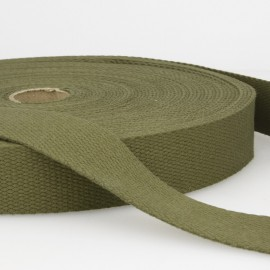 Sangle 30mm en coton pour sac coloris Kaki