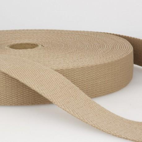 Sangle 30mm en coton pour sac coloris Beige