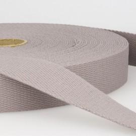 Sangle 30mm en coton pour sac coloris Gris