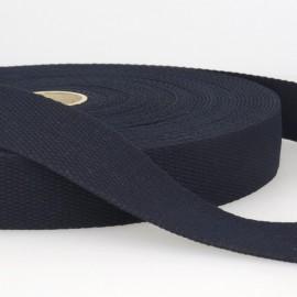 Sangle 30mm en coton pour sac coloris Marine