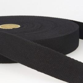 Sangle 30mm en coton pour sac coloris Noir