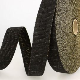 Sangle Lurex Noir 30mm pour sac