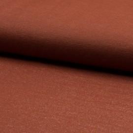 1 coupon de 70 cm de Tissu jersey viscose Sparkling coloris Tomette