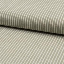Tissu Rayon fluide à rayures vert tilleul et blanc - au mètre