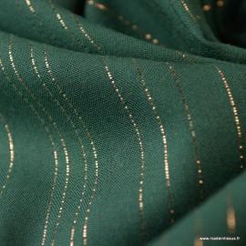 Tissu viscose à rayures Lurex Folie's coloris Vert