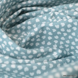 Tissu coton Motif Lipelo fond Céladon - Oeko tex