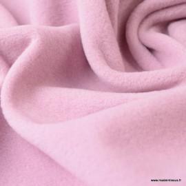 Tissu Micro polaire Rose Poudré