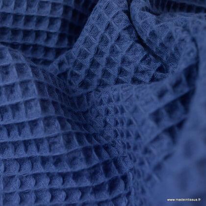 Tissu nid d'abeille Indigo - Oeko tex