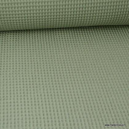 Tissu nid d'abeille Tilleul - Oeko tex