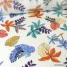 Tissu viscose Lurex feuilles de palme Lunaire coloris Blanc