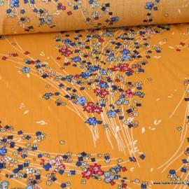 Tissu viscose Lurex Monza coloris Moutarde