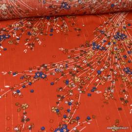 Tissu viscose Lurex Monza coloris Tomette