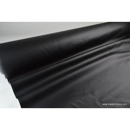 Faux cuirs ameublement rigide noir x50cm