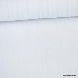 1 coupon de 75 cm de Tissu coton lavé à fines broderie coloris blanc - Oeko tex