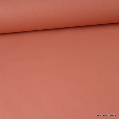 Tissu cretonne coton Marsala - Oeko tex