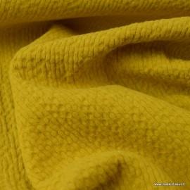 Tissu coton gaufré Coloris Moutarde - Oeko tex